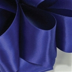 Royal Blue Double Faced Satin Ribbon - 5 widths - 100 yards