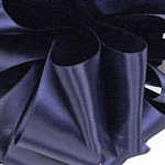 Navy Blue Double Faced Satin Ribbon - 5 widths - 100 yards