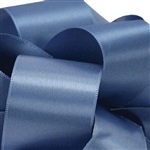 True Blue Double Faced Satin Ribbon - 5 widths - 100 yards