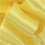 Offray Double Face Satin - 640 Lemon Yellow - 100 yards