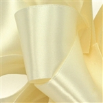 Offray Double Face Satin - 810 Ivory - 100 yards