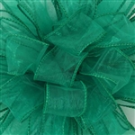 "Offray Wired Sensation Ribbon Emerald 1-1/2"", or 2-1/2"" x 50 Yards"