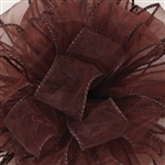"Offray Wired Sensation Ribbon Chocolate 1-1/2"", or 2-1/2"" x 50 Yards"