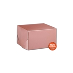 "Rose Gold Gift Boxes Two Piece 5"" x 5"" x 3"""