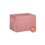 "Rose Gold Gift Boxes Two Piece 6"" x 4"" x 4"""