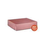 "Rose Gold Gift Boxes Two Piece  8"" x 8"" x 2"""