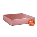 "Rose Gold Gift Boxes Two Piece 12"" x 12"" x 2-1/2"""