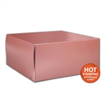 "Rose Gold Gift Boxes Two Piece 12"" x 12"" x 5-1/2"""