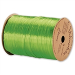 Wraphia Ribbon Pearlized Apple Green