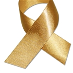 Double Face Satin Ribbon - Gold - 100 Yards/Roll - 3 Widths