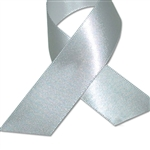 Double Face Satin Ribbon - Silver - 100 Yards/Roll - 3 Widths