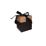 Medium Eco Pop Boxes, Black & Kraft