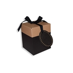 Large Eco Pop Boxes, Black & Kraft