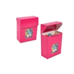 Foodie Flip Top Candy Boxes with Windows Pink