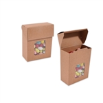 Foodie Flip Top Candy Boxes with Windows Kraft