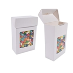 Foodie Flip Top Candy Boxes with Windows White
