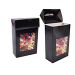 Foodie Flip Top Candy Boxes with Windows Black