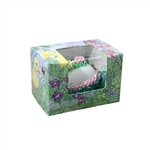 1/4 lb Easter Egg Box - Easter Garden Pattern