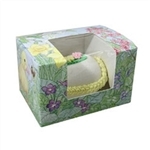 1 lb Easter Egg Box - Easter Garden Pattern with window