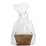 "18-1/2"" W x 22""H x 5"" Large Basket Cello Bags"