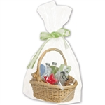 "22"" W x 25""H + 8"" Large Basket Cello Bags"