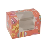1/2 lb Easter Egg Box - Coral Easter Pattern