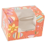 2 lb Easter Egg Box - Coral Easter Pattern
