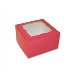 4 Cupcake Box in Pink with window