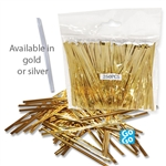 Gold or Silver Foil Twist Ties