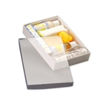 "Clear top Stationery, Photo Boxes 9 5/8"" L x 6 3/8"" W x 1 5/8"" H"