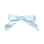 "5/8"" Pre-Tied Satin Twist Tie Bows - Light Blue"