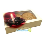 Medium Grease Resistant Cookie/Bakery Boxes-Holiday Candle