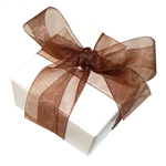 Organza Ribbon - Brown