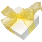 Organza Ribbon - Lemon Yellow - 100 Yards/Roll - 3 Widths