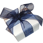 Organza Ribbon - Navy Blue - 100 Yards/Roll - 3 Widths