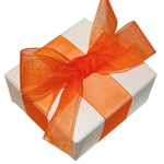 Organza Ribbon - Orange - 100 Yards/Roll - 3 Widths