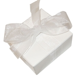 Organza Ribbon - White - 100 Yards/Roll - 3 Widths