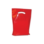 "9"" x 12"" x 2"" Red Plastic Bags"