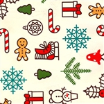 Gift Wrap Gift Wrap Gingerbread Christmas Ivory Background