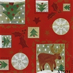 Gift Wrap Christmas Reindeer Pattern A1921