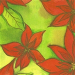 Gift Wrap Poinsettia Christmas Pattern A1924