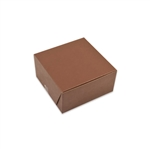 "6"" x 6"" x 3"" Brown Kraft Bakery Pastry Boxes"