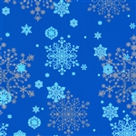 Matte Blue Snowflakes Christmas Gift Wrap Paper