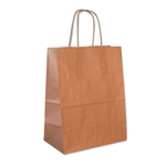 Copper Metallic Kraft Paper Shopping Bags