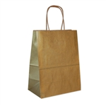 Gold Metallic Kraft Paper Shopping Bags