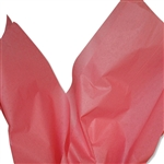 Coral Rose Coloured Tissue Paper