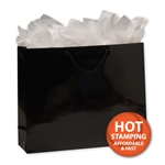 Gloss Laminated Black Large Bags
