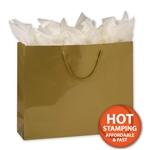 Gloss Laminated Gold Large Bags