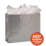 Gloss Laminated Silver Large Bags