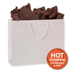 Gloss Laminated White Large Bags